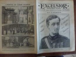 Journal Excelsior 25 Septembre 1916 2141 Guynemer Aviateur Avion Aviation Champagne Hôpital Jardin Colonial WW1 Guerre - Autres