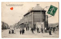 33791-ZE-59-ANICHE-Rue De L' Union Et Entrée Des Verreries De L' Ancre-------------animée - Andere Gemeenten