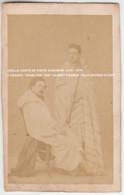"""VIEILLE CARTE DE VISITE ALBUMINE 1865 - 1870 / 2 ARABES / SIGNE PAR """"SIDI"""" ALBERT COGELS / Photo RICHAN ALGER - Algerien"""