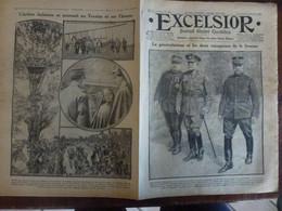 Journal Excelsior 27 Septembre 1916 2143 Sir Douglas Haig Joffre Hoch Canons Lourds Trentin Isonzo  WW1 Guerre - Autres