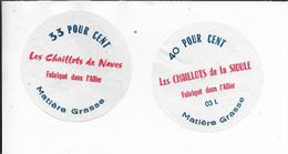 ETIQUETTES  DE  FROMAGE NEUVES LES CHAILLOTS DE LA SIOULE ET DE NAVES ALLIER - Cheese