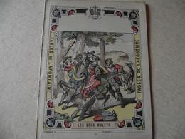 Protège Cahier, Fin XIX,  FABLE De La Fontaine, LES DEUX MULETS - Protège-cahiers