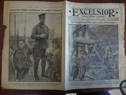 Journal Excelsior 28 Septembre 1916 2144 Canon Britannique Bataille De La Somme Jeunes Belges  WW1 Guerre - Autres