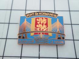 2419 Pins Pin's / Rare & Belle Qualité THEME VILLES / HONFLEUR LE HAVRE PONT DE NORMANDIE - Cities