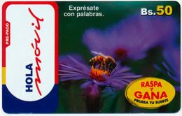BOLIVIA BOLIVIE BOLIVIEN ENTEL 50 BS. INSECT BEE PRE-PAID PHONECARD TELECARTE PERFECT - Bolivia