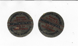 ETIQUETTE  DE  FROMAGE NEUVE   NEUFCHATEL FROMAGERIE  HERNAULT SEINE MARITIME - Cheese