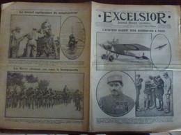 Journal Excelsior 3 Juin 1916 2027 Aviateur Gilbert Aviation Aviateur Avion Trezibonde Scaphandrier WW1 Guerre - Autres