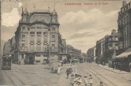 LUXEMBOURG - AVENUE DE LA GARE - Nombreux Enfants Et Personnes - Tramways - Hôtel - Lussemburgo - Città