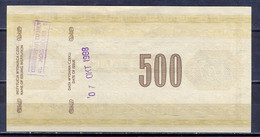 Poland  - 1988 - 500 Zl .....travellers Cheque... AUNC - Polonia