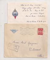 1962 TIMBRE FM CACHET 1ER R.P.I. Ma  DETACHEMENT DE MONT DE MARSAN / MILITARIA PARACHUTISTE  C1058 - Poststempel (Briefe)