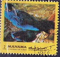 Ajman-Manama - Hyazinth-Ara (Anodorhynchus Hyacinthinus) (MiNr: E 942 A A) 1972 - Gest Used Obl - Oman
