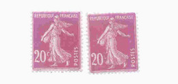 190 F C De 0,20 Absent - 1 Normal Livré   Prix Bas - Curiosities: 1921-30 Mint/hinged