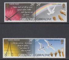 Europa Cept 1995  Gibraltar 4v ** Mnh (50116H) ROCK BOTTOM - Europa-CEPT