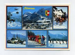 CP Autrichienne Multivues Utilisée. Abtenau, Land Salzburg. Sports D'hiver, Ski. Österreich, Austria, Austrija, Autriche - Abtenau