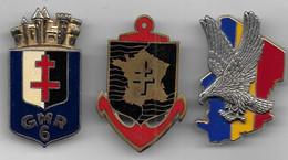 Lot De 3 Insignes Militaires - Abzeichen & Ordensbänder
