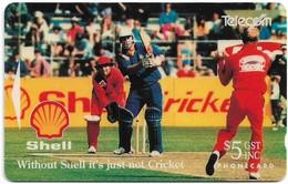 New Zealand - NZT (GPT) - Advertising Cards - Shell, Canterbury Vs Otago, Cricket, 10.000ex, 1993, Used - Nuova Zelanda