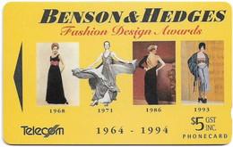 New Zealand - NZT (GPT) - Event Cards Onwards '92 - Benson & Hedges, 1994, 5$, 18.250ex, Used - Nuova Zelanda