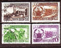 USSR 1950. Turkmen SSR.  4 Stamps. Mi. Nr. 1438-41. - 1923-1991 URSS