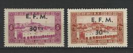 "Algerie Telegraphe YT 1 & 2 "" Tp Surchargés "" 1943 Neuf** - Other"