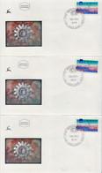 Israel Automat Stamps On FDCs - Affrancature Meccaniche/Frama