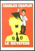 Carte Postale : Le Dictateur (Charles Chaplin - Cinéma Affiche Film) Illustration Léo Kouper - Kouper