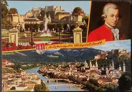 Ak Österreich - Salzburg - Mirabellgarten - Altstadt Mit Salzach - Mozart - Salzburg Stadt