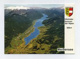 CP Utilisée. Weissensee, Höchster Badesee Der Alpen. Kärnten. Austria Austrija Österreich Autriche. Lac De Montagne - Weissensee