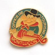 Pin's MONTLUCON (03) - OFFICE DU TOURISME - Joueur De Vielle - Folklore - Sap 47 - J663 - Cities