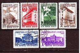 USSR 1950. Latvian SSR. 6 Stamps.  Mi. Nr. 1494-99. - 1923-1991 URSS