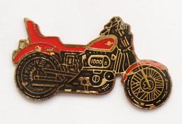 Pin's MOTO NOIRE ET ROUGE  - 1000 Cc - A Identifier - J710 - Motorbikes