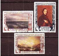 USSR 1950. I. Aivazovsky. 3 Stamps.  Mi. Nr. 1522-24. - 1923-1991 URSS