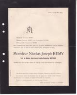 HERMALLE-SOUS-ARGENTEAU REMY Nicolas-Joseph Veuf MOITROUX 89 Ans 1905 Famille DUFER - Todesanzeige
