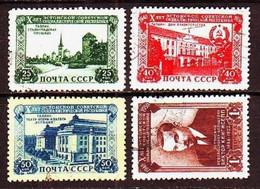 USSR 1950. Estonian SSR. 4 Stamps. Mi. Nr.1503-06 - 1923-1991 URSS
