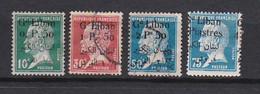 Lt0163 GRAND LIBAN 1924-1925 Timbres Frances Surchargés  Pasteur  4 Val. N & (O) - Used Stamps