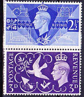 Großbritannien Great Britain Grande-Bretagne - 1. Jahrestag Sieg 2 WK (MiNr: 231/2) 1946  - Postfrisch MNH - Unused Stamps
