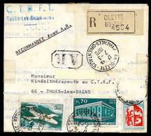 1970 Lettre Recommandée (pli Recommandé, Licenciement Centre Thermal THUES-Les-BAINS) Dépôt 66 OLETTE - Marcophilie (Lettres)