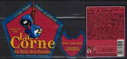 Belgique Lot 3 Étiquettes Bière Beer Labels La Corne Du Bois Des Pendus Santé Sans Pitié - Bière