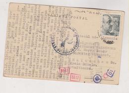 SPAIN 1943 LAS PALMAS Censored Postcard To Germany - 1931-50 Lettres