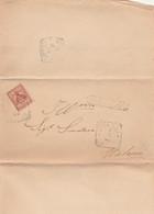 LETTERA 1895 C.2 TIMBRO IONADI CATANZARO (ZX1237 - Storia Postale
