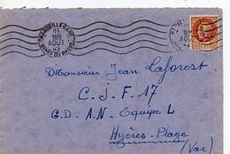 E 4  1942 Lettre Chantiers De Jeunesse N°17 - WW II