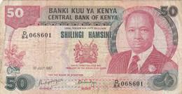 BANCONOTA KENIA 50 SHILLING VF (ZX1360 - Kenia