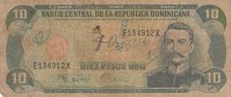 BANCONOTA REPUBBLICA DOMINICANA 10 VF (ZX1362 - República Dominicana