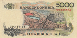 BANCONOTA INDONESIA 5000 VF (ZX1388 - Indonesia
