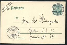 DR P73  Postkarte Berlin ZUDRUCK. Magistrat  Wz. 6II  1907 - Allemagne