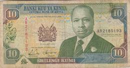 BANCONOTA KENIA 10 SHILLING VF (ZX1404 - Kenia