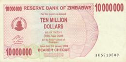 BANCONOTA 10.000.000 DOLLARI ZIMBABWE EF (ZX1476 - Zimbabwe