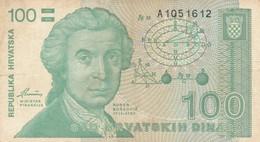 BANCONOTA 100 DINARA CROAZIA VF (ZX1490 - Kroatien