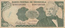BANCONOTA VENEZUELA 20 VF (ZX1516 - Venezuela