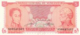 BANCONOTA VENEZUELA 5 UNC (ZX1524 - Venezuela
