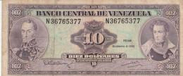 BANCONOTA VENEZUELA 10 VF (ZX1527 - Venezuela